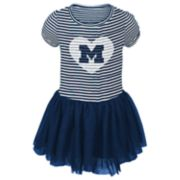Baby Girl Michigan Wolverines Sequin Tutu Dress