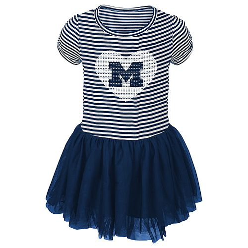 Toddler Girl Michigan Wolverines Sequin Tutu Dress