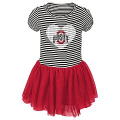 Baby Girl Ohio State Buckeyes Sequin Tutu Dress