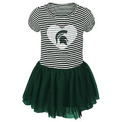 Toddler Girl Michigan State Spartans Sequin Tutu Dress