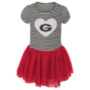 Baby Girl Georgia Bulldogs Sequin Tutu Dress