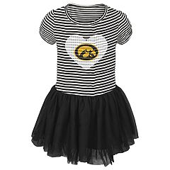Toddler Girl Iowa Hawkeyes Sequin Tutu Dress