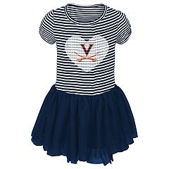 Toddler Girl Virginia Cavaliers Sequin Tutu Dress