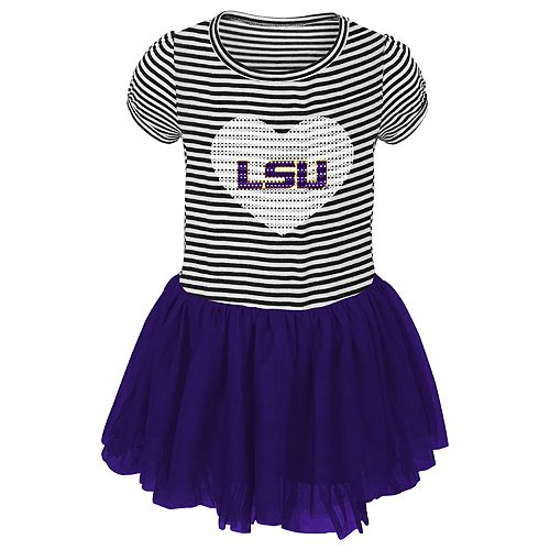 Toddler Girl LSU Tigers Sequin Tutu Dress
