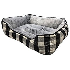 Woof 26' x 22' Medium Plaid Pet Bed