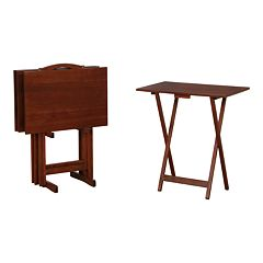 Powell Hazelnut Finish Tray Table 5-piece Set