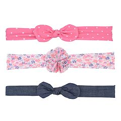 Baby Girl Carter's 3-pack Bow & Floral Headbands