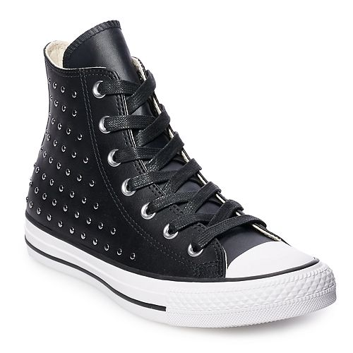 Womens Converse Chuck Taylor All Star Leather High Top Shoes