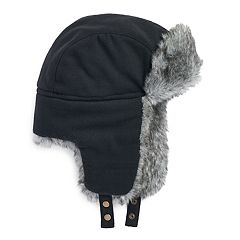 Men's Apt. 9® Herringbone Faux-Fur Trapper Hat