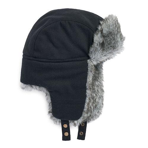 a3dbf55de8de9 Men s Apt. 9® Herringbone Faux-Fur Trapper Hat