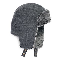 Men's Apt. 9® Twill Faux-Fur Trapper Hat
