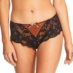 Women's Perfects Australia Carina Lace Two-Tone Boyshort Panty 14UBK92