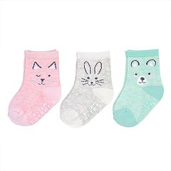 Baby / Toddler Girl Carter's 3-pack Critter Socks