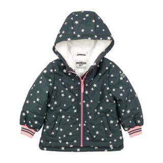 Baby Girl OshKosh B'gosh® Midweight Grey Star Jacket