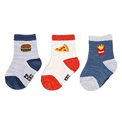 Baby / Toddler Boy Carter's 3-pack Food Crew Socks