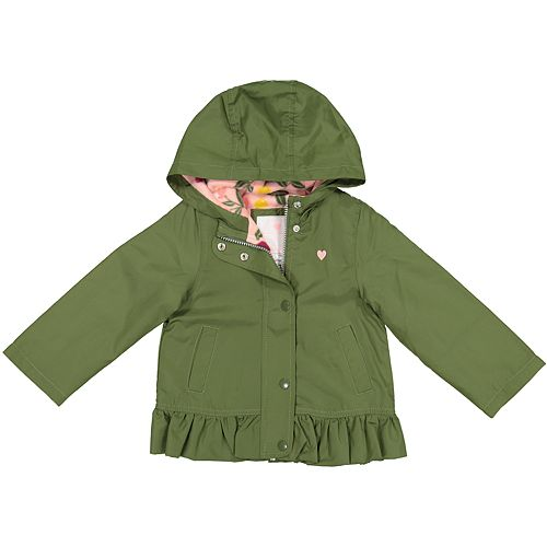 Baby Girl Carter's Midweight Olive Peplum Jacket