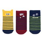 Baby Boy Carter's 3-pack Striped Monster Socks
