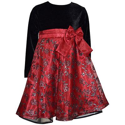 Girls 4-6x Blueberi Boulevard Velvet Floral Dress