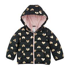 Baby Girl Carter's Heavyweight Grey Heart Jacket
