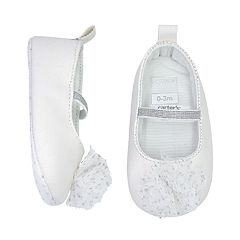 Baby Girl Carter's Tulle Flower Mary Jane Crib Shoes