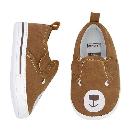 Baby Boy Carter's Bear Slip-On Crib Shoes