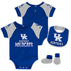 Baby Kentucky Wildcats 50 Yard Dash Bodysuit, Bib & Booties Set