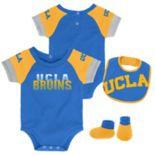 Baby UCLA Bruins 50 Yard Dash Bodysuit, Bib & Booties Set