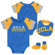 Baby UCLA Bruins 50 Yard Dash Bodysuit, Bib & Booties Set