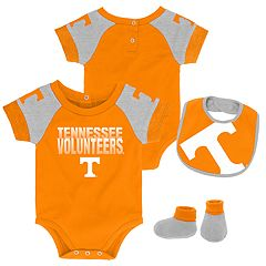 Baby Tennessee Volunteers 50 Yard Dash Bodysuit, Bib & Booties Set