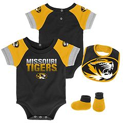 Baby Missouri Tigers 50 Yard Dash Bodysuit, Bib & Booties Set