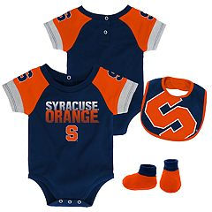 Baby Syracuse Orange 50 Yard Dash Bodysuit, Bib & Booties Set