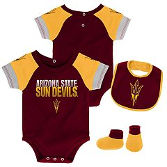 Baby Arizona State Sun Devils 50 Yard Dash Bodysuit, Bib & Booties Set