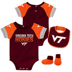 Baby Virginia Tech Hokies 50 Yard Dash Bodysuit, Bib & Booties Set