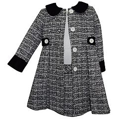 Girls 4-6x Blueberi Boulevard Tweed Dress & Coat Set