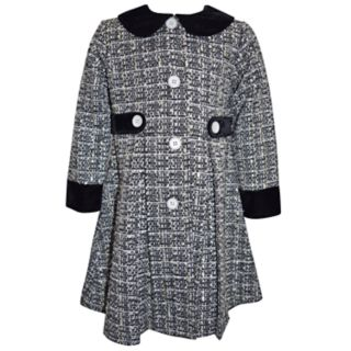 Girls 4-6x Blueberi Boulevard Tweed Dress & Coat Set