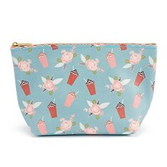 LC Lauren Conrad Trapezoid Scalloped Cosmetic Bag
