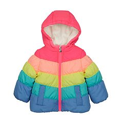 Baby Girl OshKosh B'gosh® Heavyweight Chevron Rainbow Jacket
