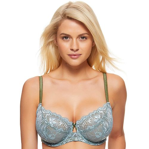 Women's Full Figure Perfects Australia Dahlia Lace Underwire Push-Up Bra 14UBR217
