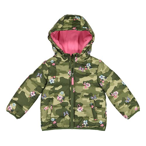 b53008017518 Baby Girl Carter s Heavyweight Camo Floral Jacket