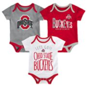 Baby Ohio State Buckeyes Little Tailgater Bodysuit Set