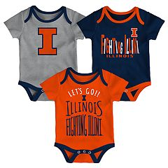 Baby Illinois Fighting Illini Little Tailgater Bodysuit Set