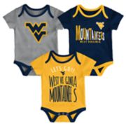Baby West Virginia Mountaineers Little Tailgater Bodysuit Set