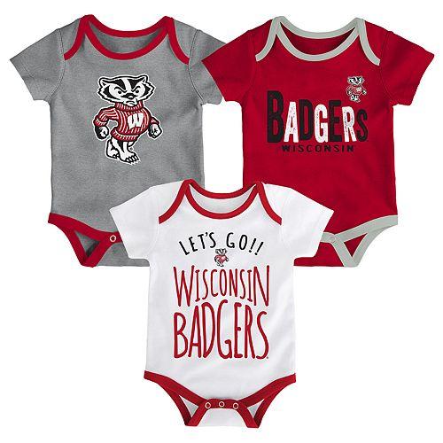 Baby Wisconsin Badgers Little Tailgater Bodysuit Set