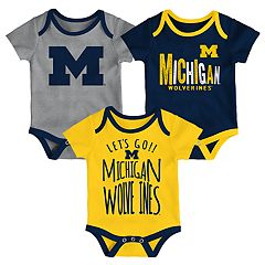 Baby Michigan Wolverines Little Tailgater Bodysuit Set