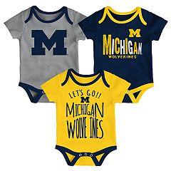 Baby Michigan Wolverines Little Tailgater Bodysuit Set