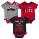 Baby Georgia Bulldogs Little Tailgater Bodysuit Set
