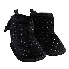 Baby Girl Carter's Glitter Polka-Dot Boot Crib Shoes