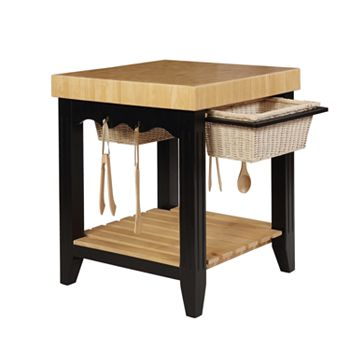 Powell Color Story Butcher Block Kitchen Island