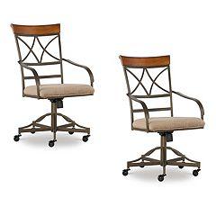 Powell Hamilton Swivel Desk Chair 2-piece Set