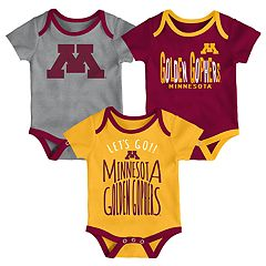 Baby Minnesota Golden Gophers Little Tailgater Bodysuit Set